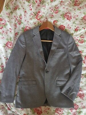 Boys NEXT silver blue occasion jacket age 11 wedding smart party