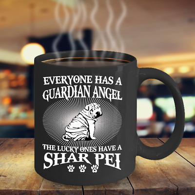 Shar Pei Is Guardian Angel Coffee Mug, Shar Pei Coffee Mug, Shar Pei Mug, Cup
