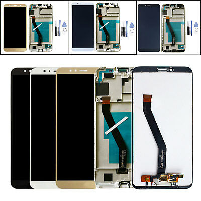 Per Huawei Y6 2018 / Honor 7A Touch Screen LCD Display Vetro Schermo Nero Bianca