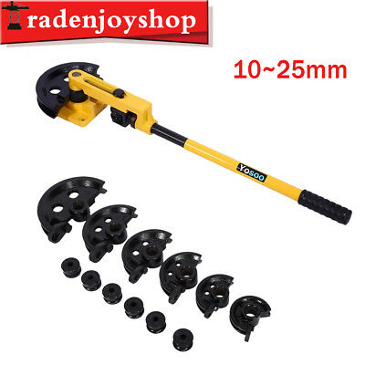10-25mm Manual Pipe Tube Bender Metal Bending with 6 Size Dies Handheld Tools