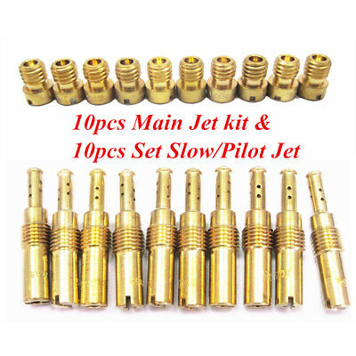 20Pcs/Set Carburetor Main Jet Kit & Slow/Pilot Jets