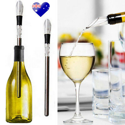 Wine Chill Stick Stainless Steel Bottle Chiller Cooler Fast Pourer Spout Bottle