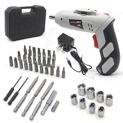 45Pcs 4.8V Cordless Reversible Rechargeable Drill Electric Power Screwdriver