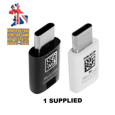 GENUINE SAMSUNG S8+ S9+ NOTE MICRO USB To TYPE C Connector Adapter GH98-41290A