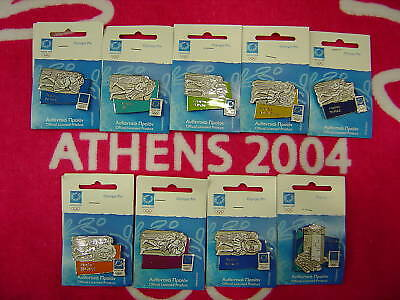 Winds Ancient Greece - Complete Set Of 9 Athens 2004 Olympic Pins