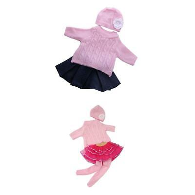 7pcs Sweater Top Hat Lace Skirt Tights for 18'' American Girl Doll Clothes