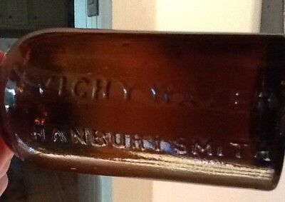 Vichy WAter Hanbury Smith Bottle  Amber 7""