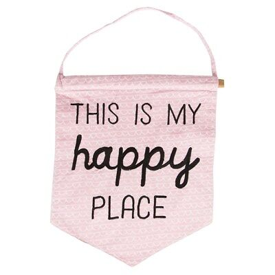 Sass & Belle This Is My Happy Place Banner Flag Nursery Baby Gift Bnwt