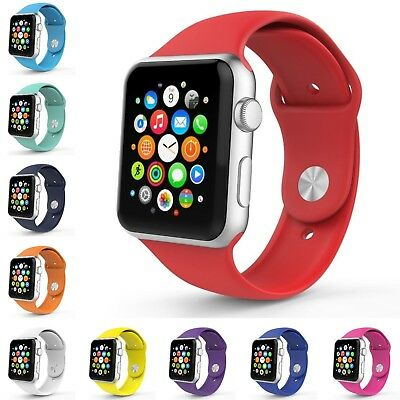 Band Replacement Sport Silicone Wrist Strap Bracelet For Apple Watch Series 123