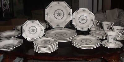 36 Pc VINTAGE CASTLETON CHINA INDEPENDENCE IRONSTONE PROVINCIAL FLOWER 7 pc set