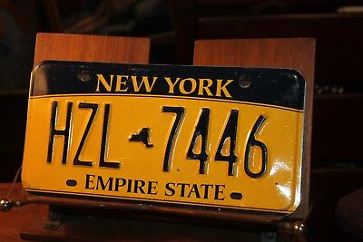 2010 New York Empire State License Plate HZL 7446 (B)