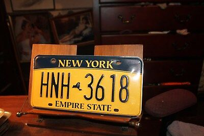 2010 New York Empire State License Plate HNH 3618 (B)