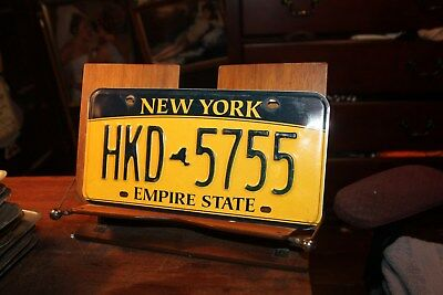2010 New York Empire State License Plate HKD 5755