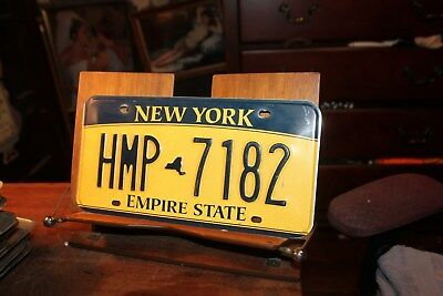 2010 New York Empire State License Plate HMP 7182