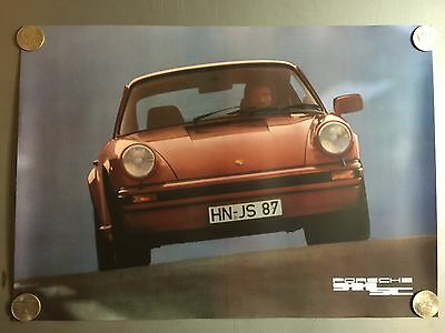 1983 Porsche 911 SC Coupe Showroom Advertising Sales Poster Awesome RARE Reprint
