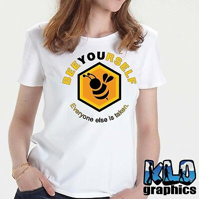 BEE YOURSELF T-Shirt Beekeeping Honey Bees Bumble Hive Uni-Sex Tee BE YOU