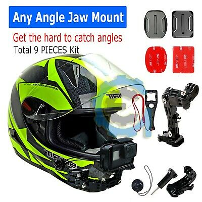 Helmet Front Jaws Chin mount & 3M Sticker for Gopro Hero cameras 6/5/4/3/3+/2