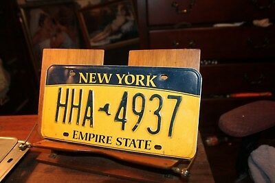 2010 New York Empire State License Plate HHA 4937