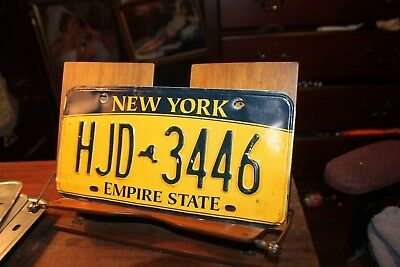 2010 New York Empire State License Plate HJD 3446 BENT