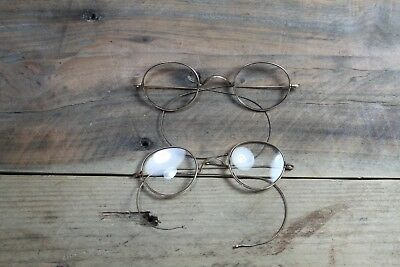 Vintage Antique Oval Reading Glasses Spectacles ONE PAIR Great Prop Or Display!