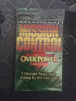 Marvel Overpower - Mission Control - Sealed Booster Pack - CCG TCG Cards