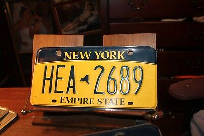 2010 New York Empire State License Plate HEA 2689 ROUGH