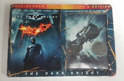 The Dark Knight Full Screen DVD Collector's Edition With 2 Face Coin NEW