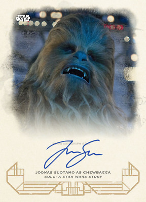 Topps Star Wars Card Trader Heritage Solo Story W2 Signature Joonas/Chewbacca