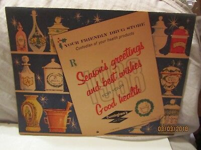 Vintage 1968 Cunningham's Drug Stores Season's Greetings Wall Calendar