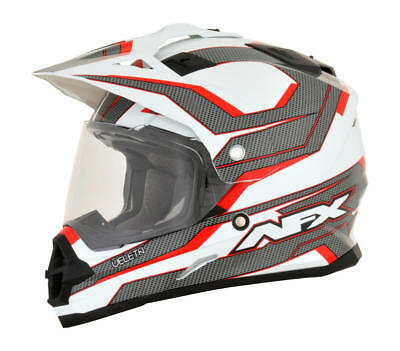 Afx Helm Fx-39 Veleta Dual Sport Helmet Medium Red/white/gray Medium