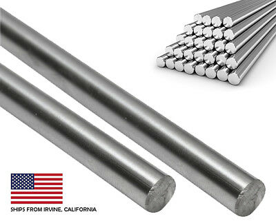 "(2 PCS) 8mm x 330mm (13"") Case Hardened Chrome Linear Motion Rods/Shafts/Guides"