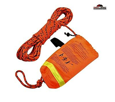 Boat Rescue Reflective 50' Throw Rope Safety Bag ~ NEW