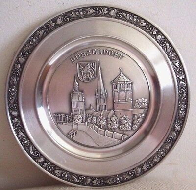 Germany Zinn Becker Stuttgart German DUSSELDORF Coat of Arms Pewter Wall Decor