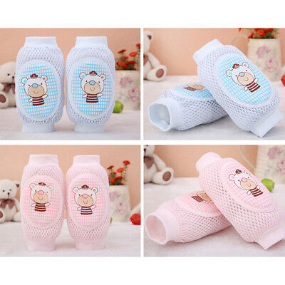 Kids Baby Infants Toddlers Knee Pad Protector Safety Crawling Elbow Cushion G