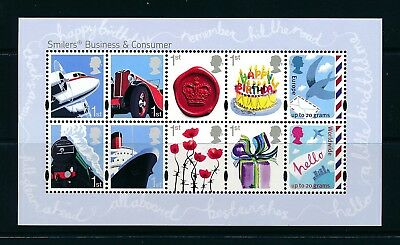 GB 2010 Business and Consumer Smilers mini sheet SG MS3024 MNH
