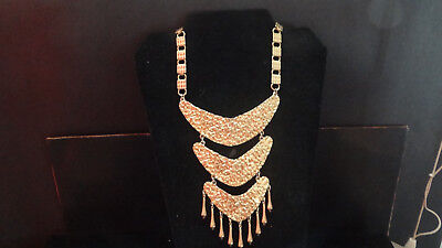 Rare Massive Egyptian Revival signed PAULINE RADER Couture vintage necklace