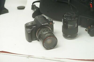 Sony Alpha A230 10.2MP DSLR Good Condition with 28-80mm & 100-200mm AF Lens