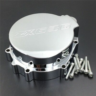 Billet Aluminum Engine Stator Cover For 2003-2004 Kawasaki ZX-6R/ZX636 Chrome Le