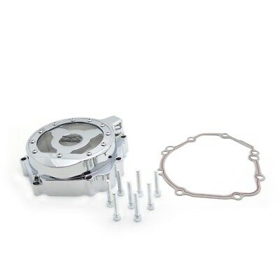 Chrome Left Engine Stator Cover See Through For Suzuki 2004 Gsxr 750 1000
