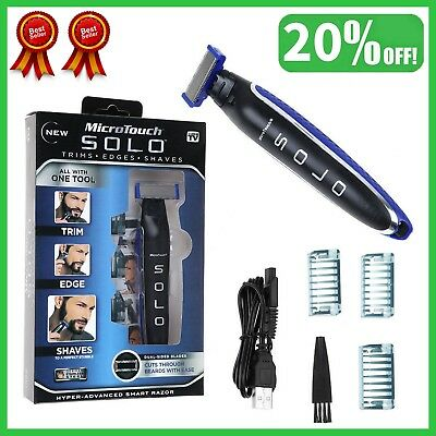 Multi-functional Men's Razor Rechargeable Shaver, Trimmer and Edger Smooth Touch