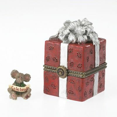 Boyds Bears*WINSTON'S GIFT TREASURE BOX*New*NIB*Joy McNibble*CHRISTMAS*4034165