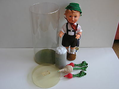 Vintage Goebel M.i. Hummel Radish For Father  #1724 Doll With Accessories /tube