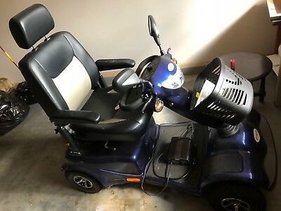 Mobility Scooter. Pioneer 12S dark blue. As new in excellent working.
