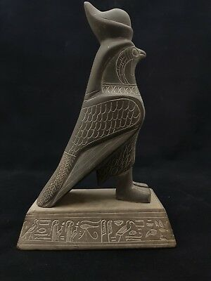 Rare ANCIENT EGYPTIAN ANTIQUE God HORUS Falcon STATUE Egypt Stone 1000-600 BC