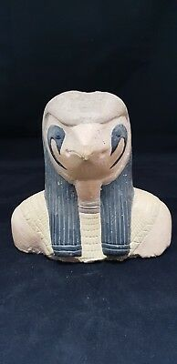 Ancient Egyptian Statue Of God HORUS Falcon Egypt Gods Antique Stone 1500-300 BC