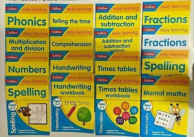Collins Easy Learning Age 5-7 Pack - 15 WorkBooks Collection School Children KS1