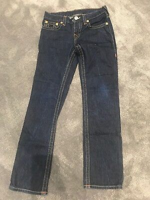 Boys True Religion Blue Jeans. Age 8. Straight Cut.