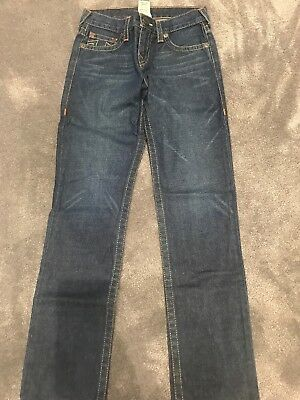 Boys True Religion Blue Jeans. Age 10. Straight Cut.