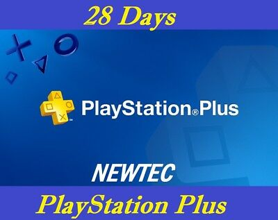 28 days ps + (2 x 14) playstation plus ps4 ps3 [region free]