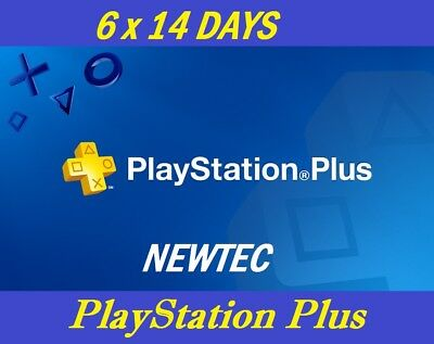 84 days ps + (6 x 14) ps4 playstation plus for [region free]